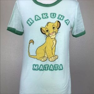 Disney Tops - Simba Lion King Hakuna Malaga Tee Disney